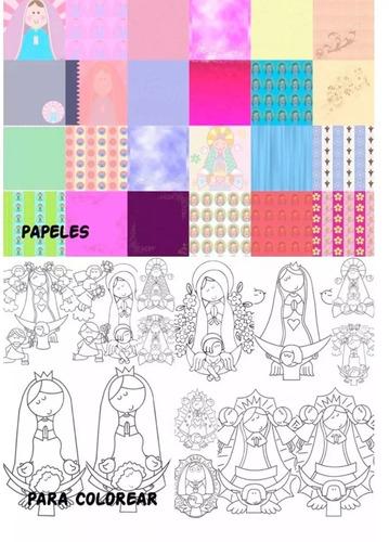 mega kit imprimible virgencitas plis, santitos y angelitos!