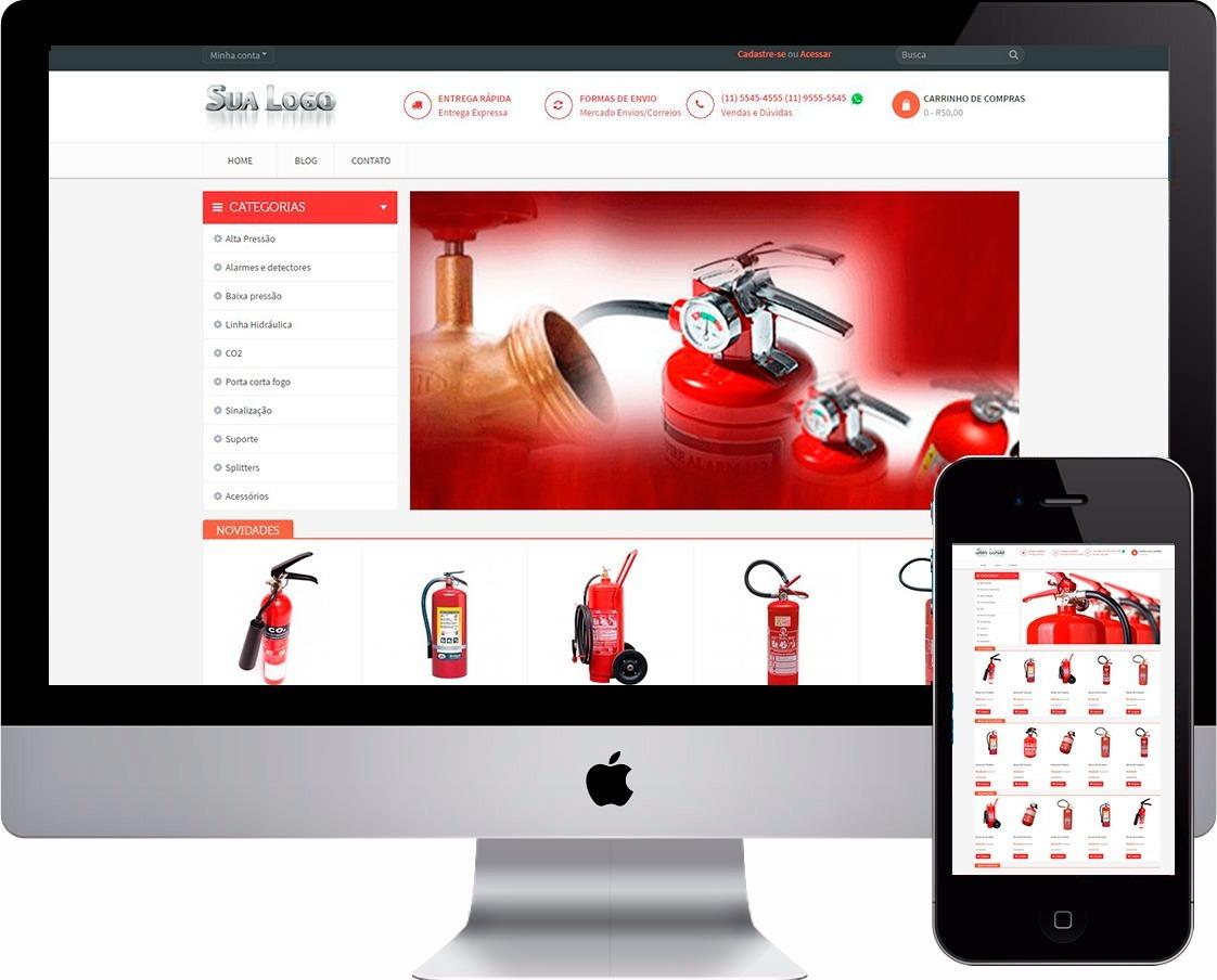 4cd686e56 Mega Loja Virtual De Extintores E Alarmes Conta Incêndio - R  260