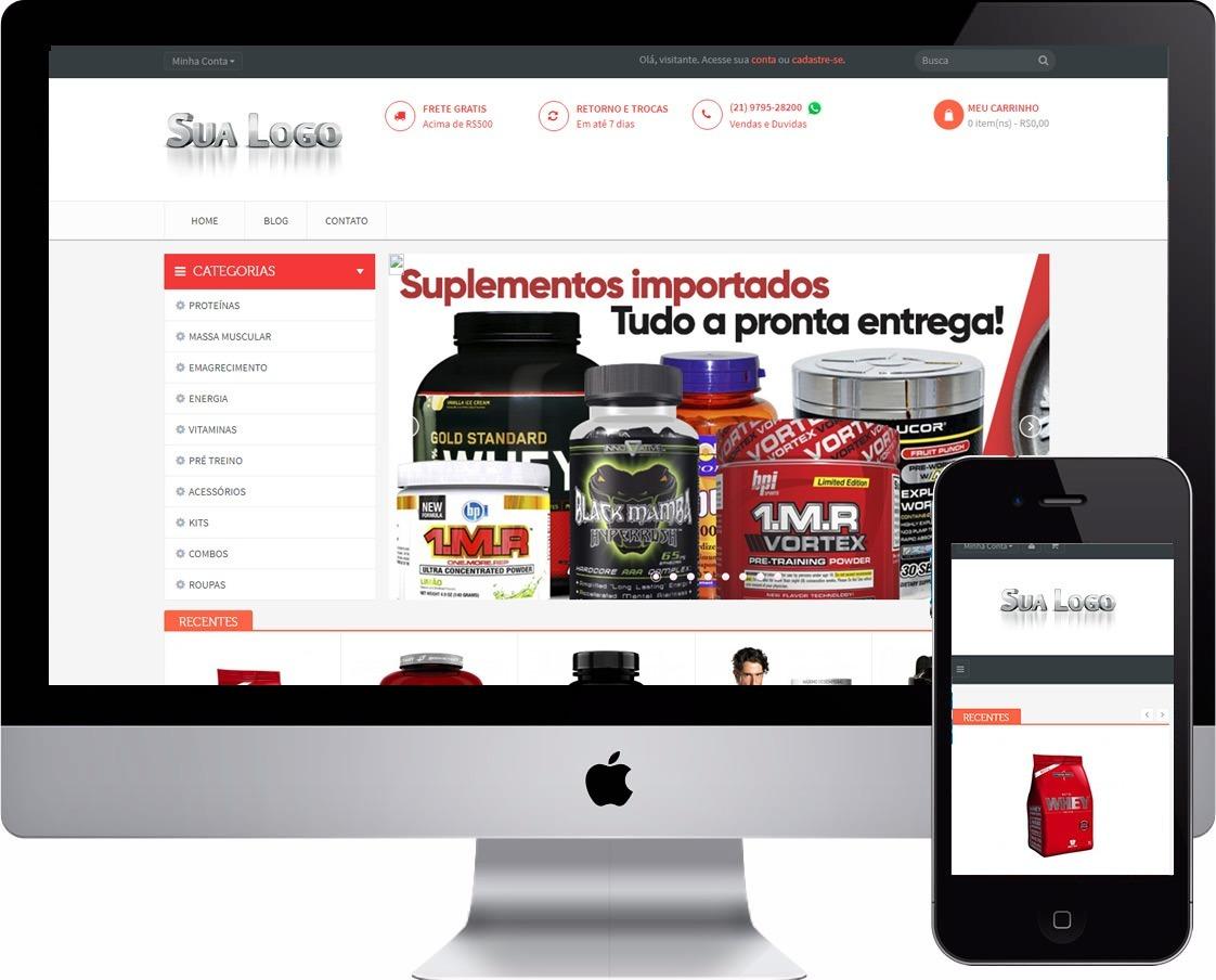 c57d16ba5 Mega Loja Virtual Fitness Roupas Fitness Suplementos - R$ 260,00 em ...