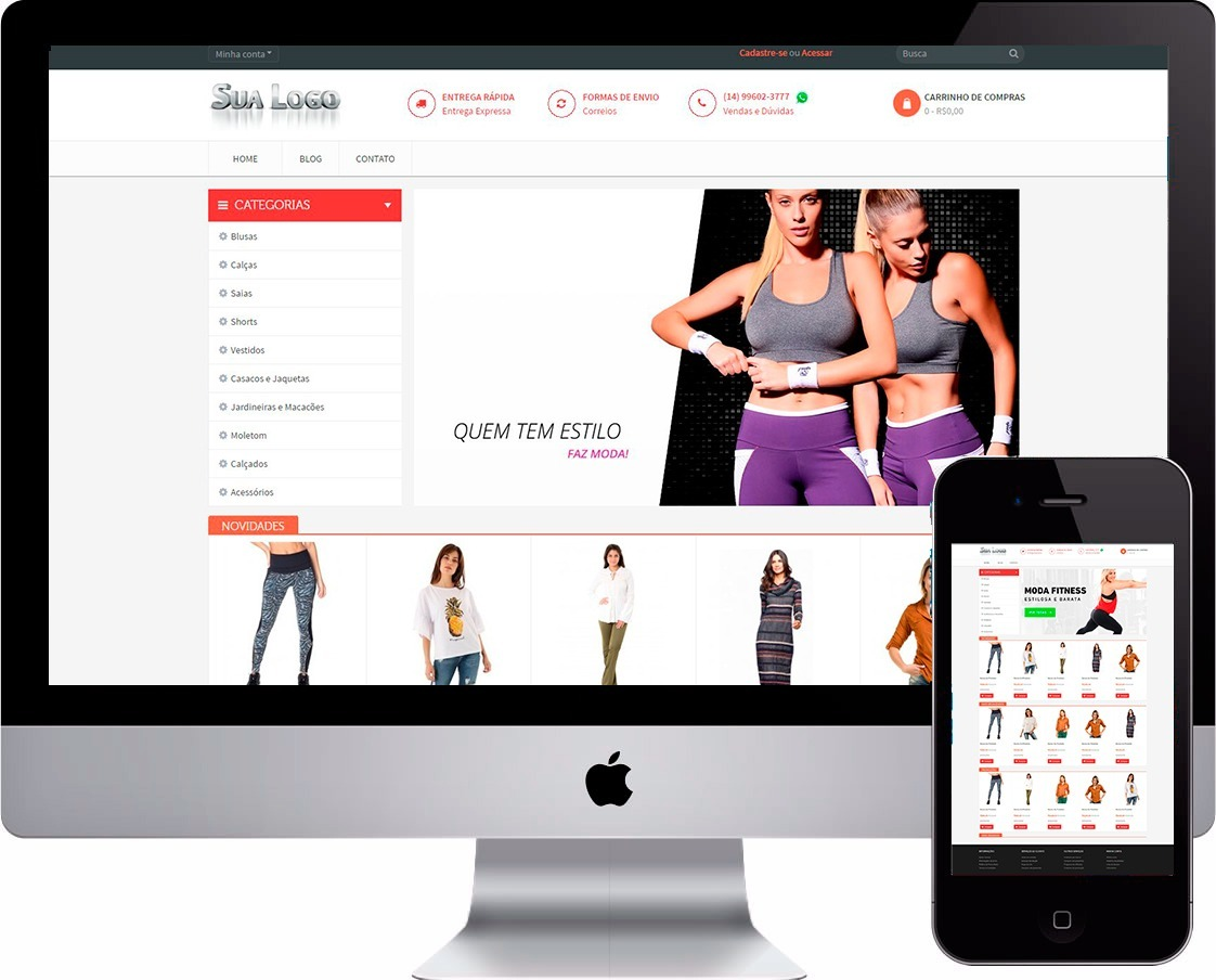a1fe744b7 Mega Loja Virtual Fitness Roupas Moda Fitness - R$ 260,00 em Mercado ...