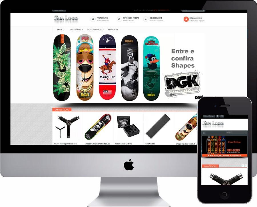 mega loja virtual opencart skate shop ecommerce. Carregando zoom. c393e7bf10e