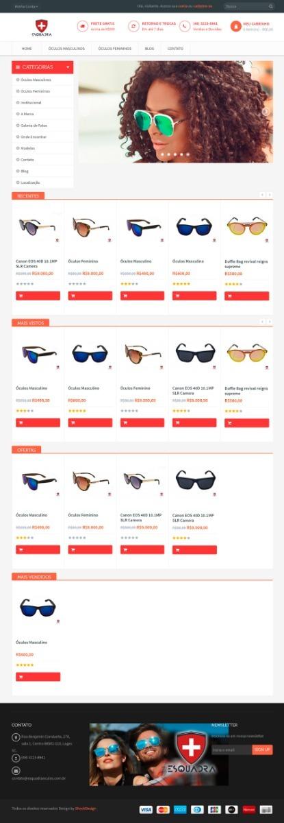 933beefc7 Mega Loja Virtual Ótica Óculos De Sol Gráu Outros - R$ 260,00 em ...