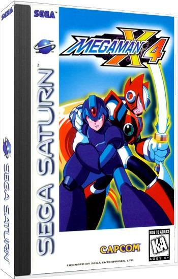 Mega Man X4 Sega Saturn Cd Rom