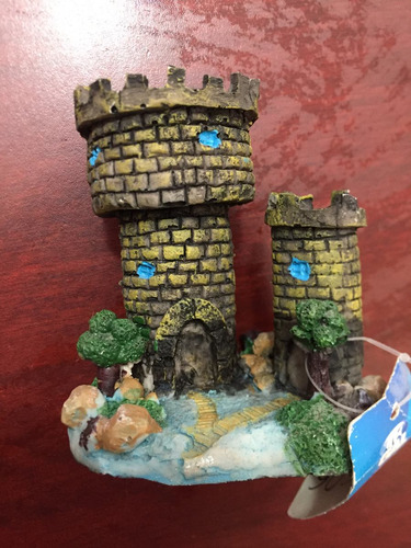 mega oferta decoracion de resina acuario castillo medieval