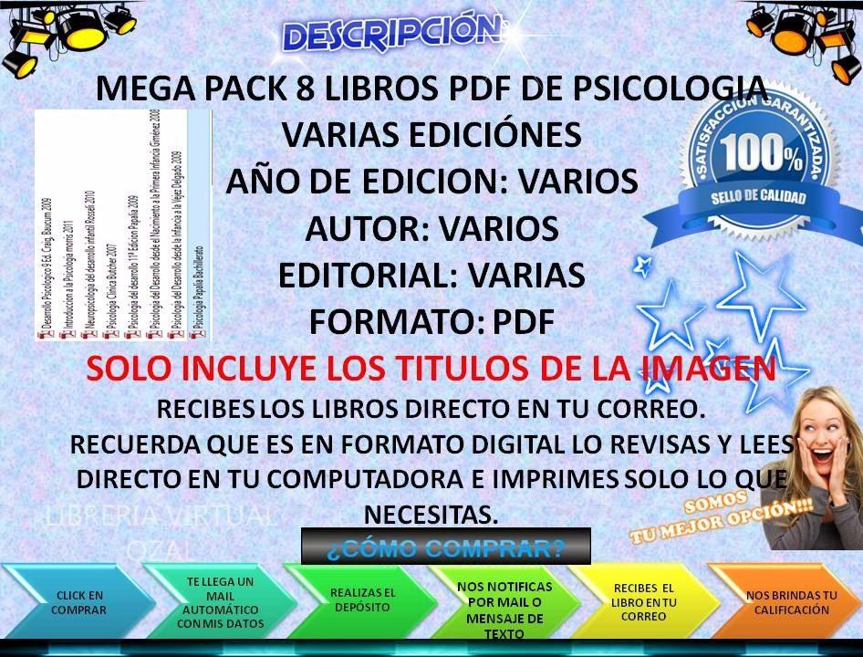 Mega pack 8 libros pdf de psicologia bs 25000000 en mercado libre libros pdf de psicologia cargando zoom fandeluxe Image collections