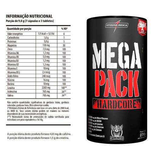 b3a67cf52 Mega Pack Darkness 30 Packs + Creatina 150g Max - R  114