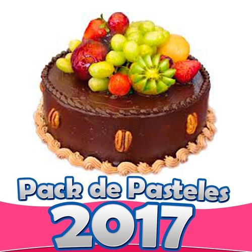 mega pack de pasteles fondant, pasteles chuecos recetas