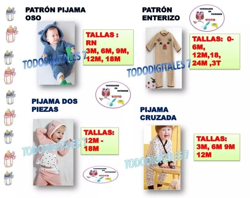 Mega Pack De Patrones De Costura Pdf - Ropa De Bebé - $ 3.700 en ...