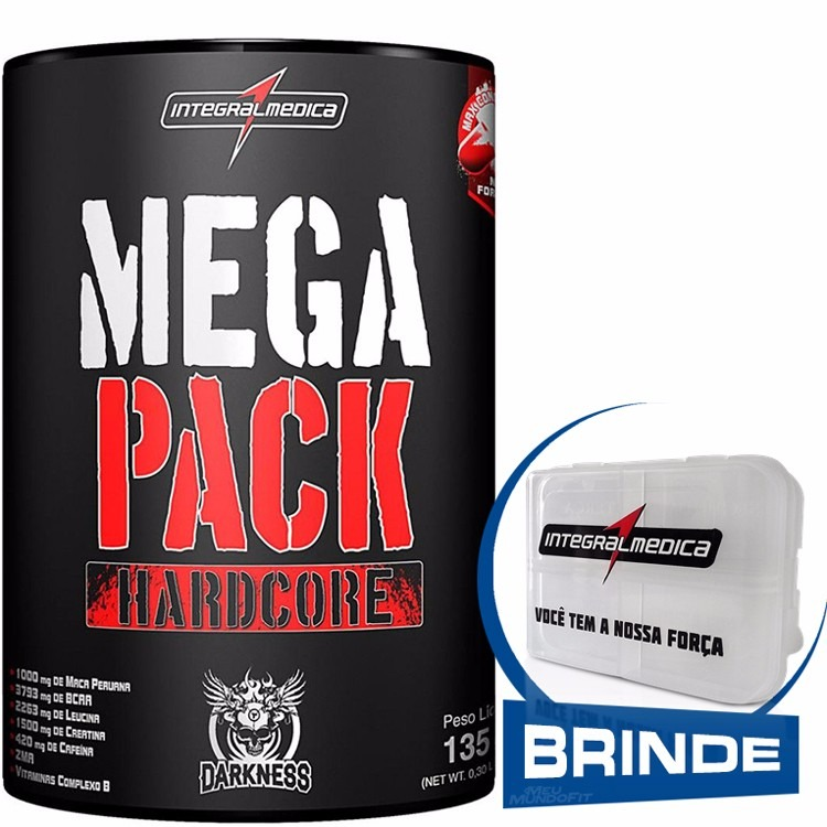 c384bf8b8 Mega Pack Hardcore (15 Packs) Integralmédica + Brinde Grátis - R  74 ...