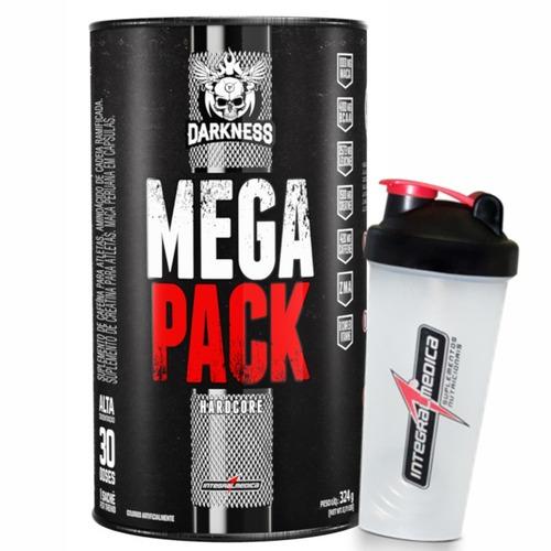 mega pack hardcore 30 packs + shaker - integralmedica