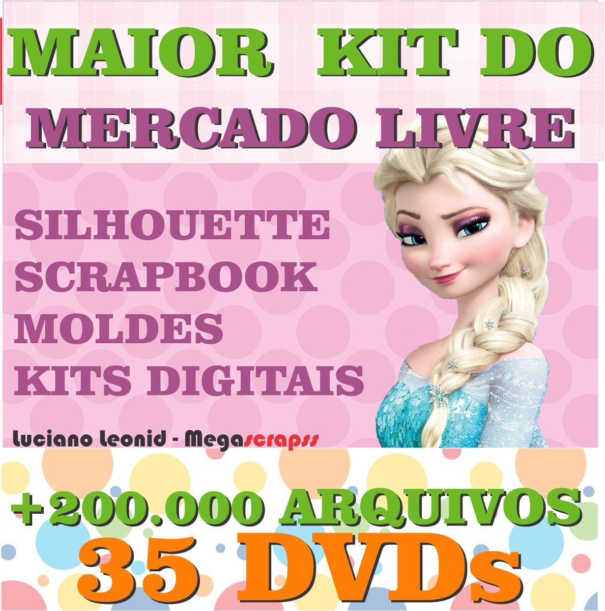 5994254deae87 Mega Pacote Silhouette + Scrap - O Maior E Mais Completo - R  75,79 ...