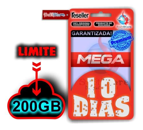 mega premium (10 días, 200gb)