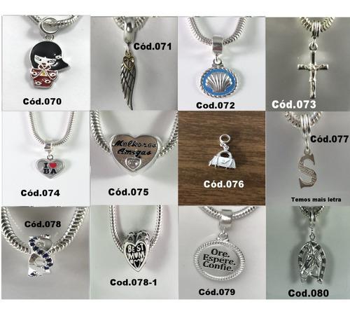 mega promoção 7 berloque charms prata maciça 925 frete g