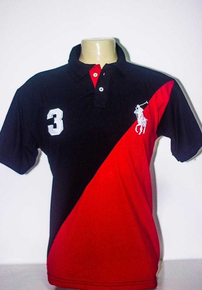 mega promoção kit 3 camisa polo ralph lauren masculina. Carregando zoom. e040153689bc7