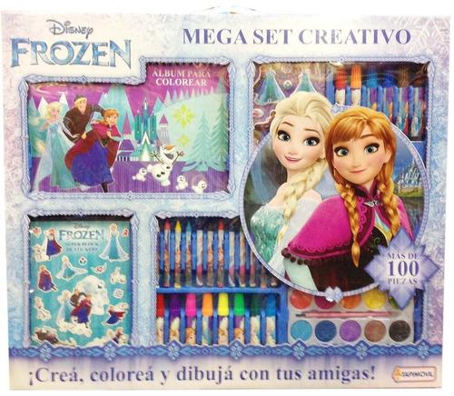 mega set creativo para pintar colorear frozen babymovil