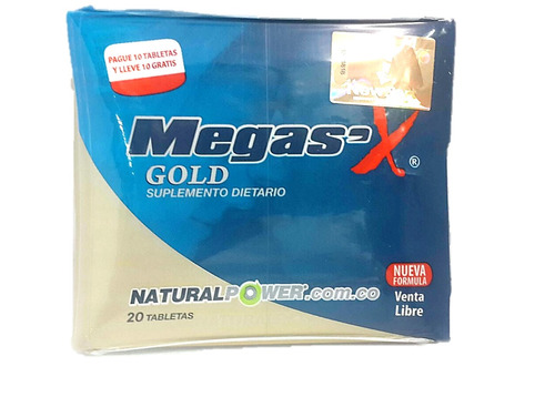 mega sex gold x20 tabletas - original con invima