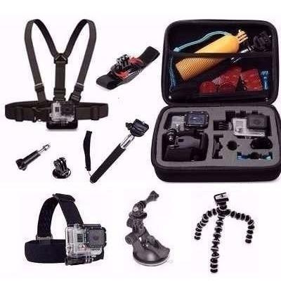mega super kit com acessórios para gopro hero combo plus
