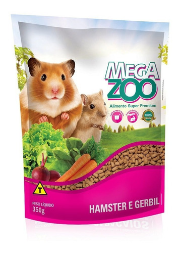 mega zoo alimento super premium para hamster y jerbos 350 gr