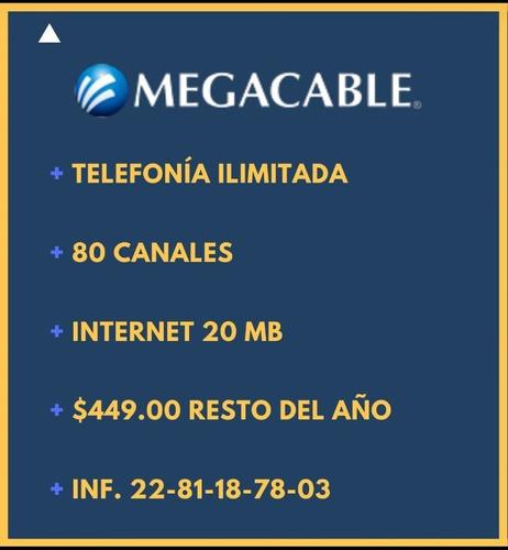 ¡megacable $449: internet, tv, telefonía todo el año!
