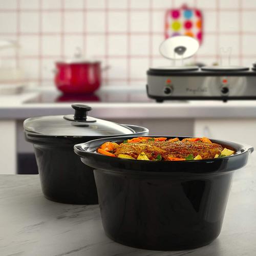 megachef mc-1203 triple 2.5 quart slow cooker y buffet servi
