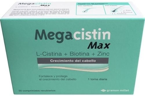 megacistin max fortalecedor anti caída, 30comprimidos x3 uni