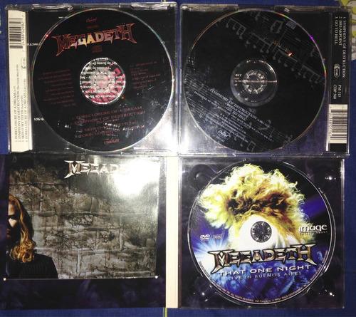 megadeth 2 cd singles mas dvd imp. that one night digipack