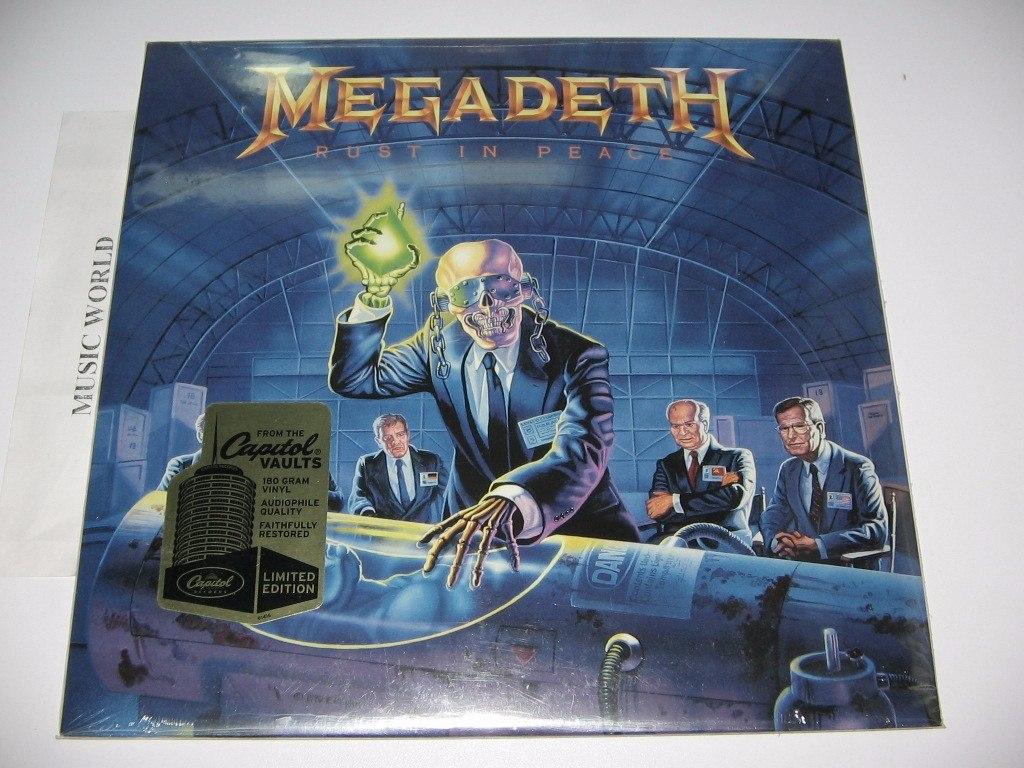 Megadeth Rust In Peace 180 Gr Limited Sellado Disponible