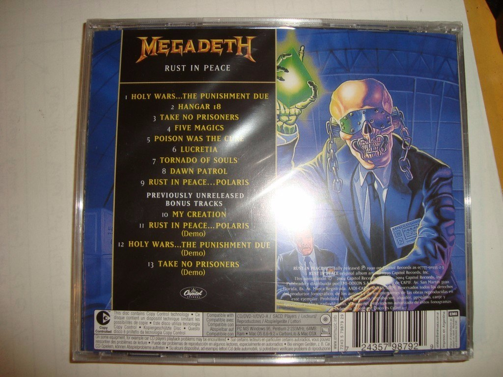 Megadeth Rust In Peace Nuevo Audio Cd En Caballito