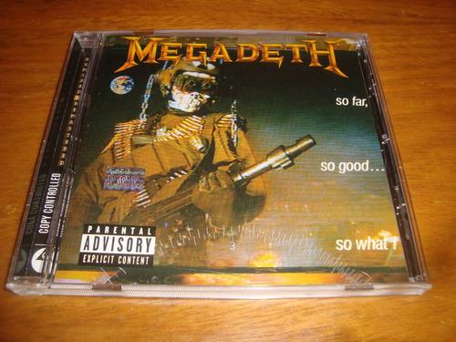 megadeth - so far, so good...  - cd (metallica-iron maiden)