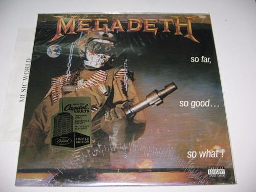 megadeth so far, so good..180 gr. limited sellado disponible