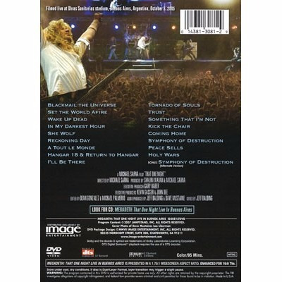 megadeth that one night live in buenos aires dvd
