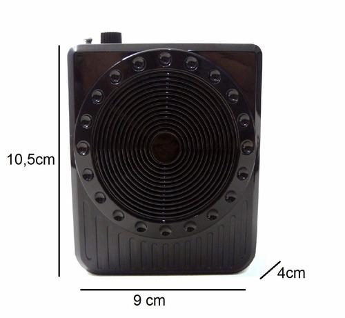 megafone amplificador voz microfone fm produto excelente
