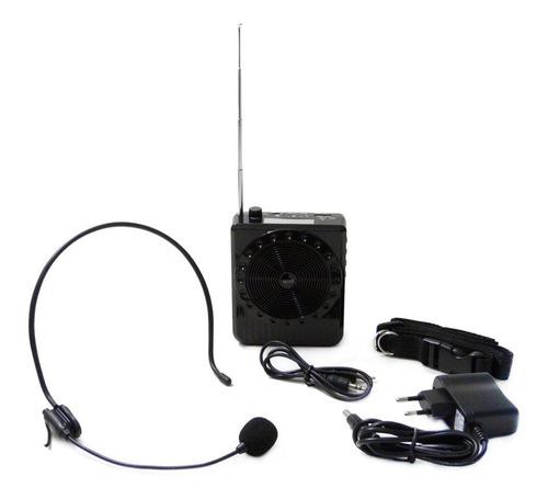 megafone amplificador voz microfone professor radio fm usb