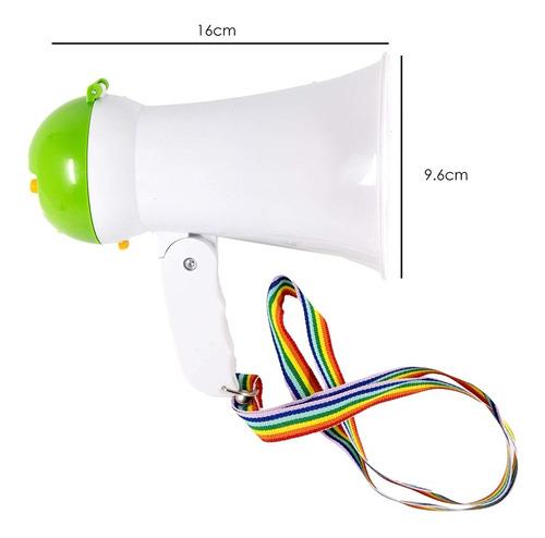 megafone auto falante portatil com ajuste e sirene luxo