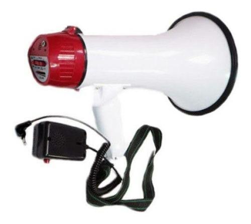 megafone com microfone destacavel mao 30w gravador e sirene