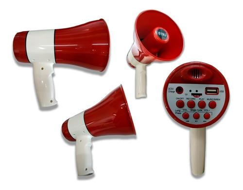 megafone com usb sd sirene gravador 20w auto falante de mao