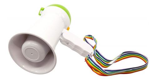 megafone portatil com ajuste e sirene dobravel luxo