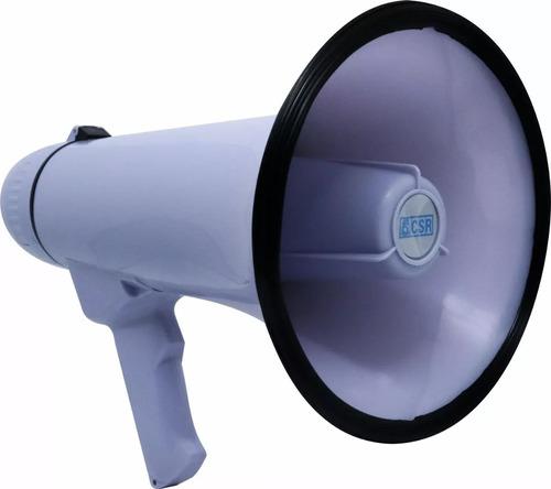 megafone portátil com microfone e sirene musical prof