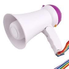 megafone portatil de mao com ajuste de volume sirene musical