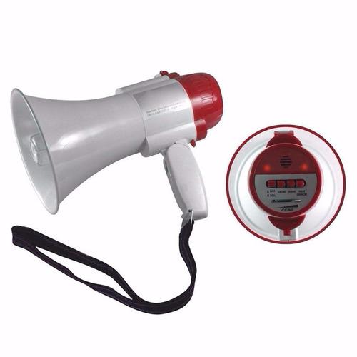 megafone portátil recarregável com sirene musical e gravador