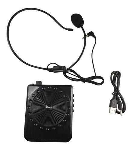 megafono de cintura microfono vincha portatil parlante altavoz usb inalambrico