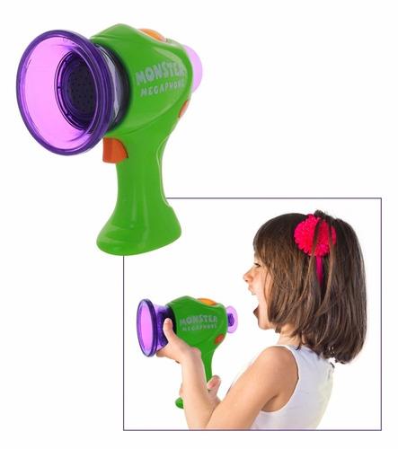 megafono de juguete monster con luz y sonido