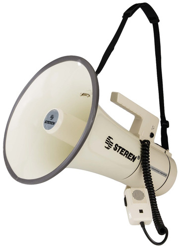megáfono hombro micrófono colgante 35 w. pilas alcalinas