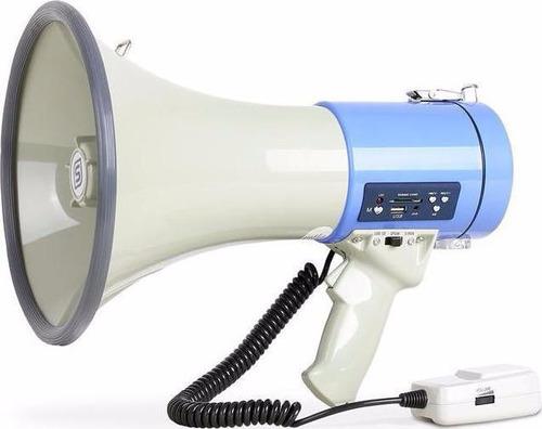 megafono usb sd sirena aux 500 w bateria recargable12v