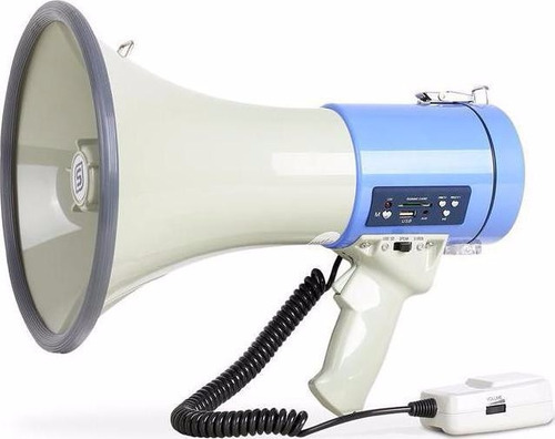 megafono usb sd sirena  aux 500wpmpo bateria recargable12v