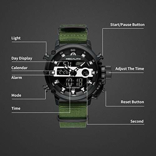 megalith - relojes deportivos para hombre digital militar, c