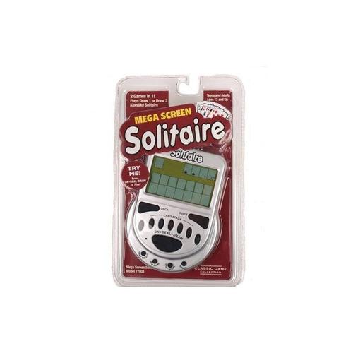 megascreen solitaire handheld juego + envio gratis