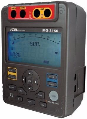 megôhmetro digital icel manaus mg-3150 1000 gohm 5.000v