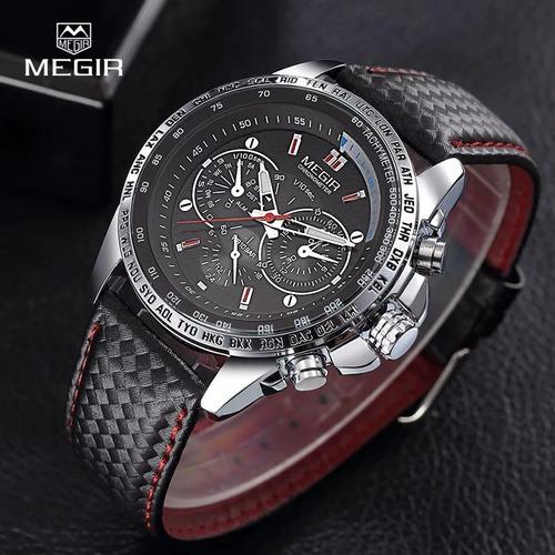 megir hot moda relógio de quartzo de pulso,pulseira de couro