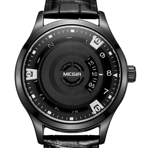 megir mg1067 moda casual homens calendário função relógio co